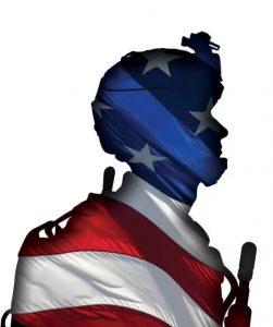 Veteran Wrapped in American Flag